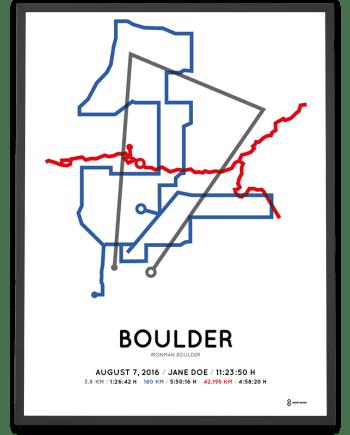 2016 Ironman Boulder sportymaps course poster