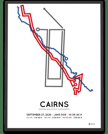 2020 Ironman Cairns routemap poster