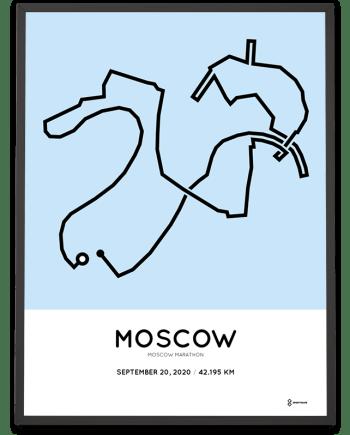 2020 Moscow marathon marathonermap