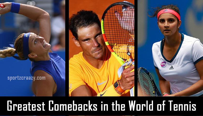 Greatest Comebacks in the Tennis