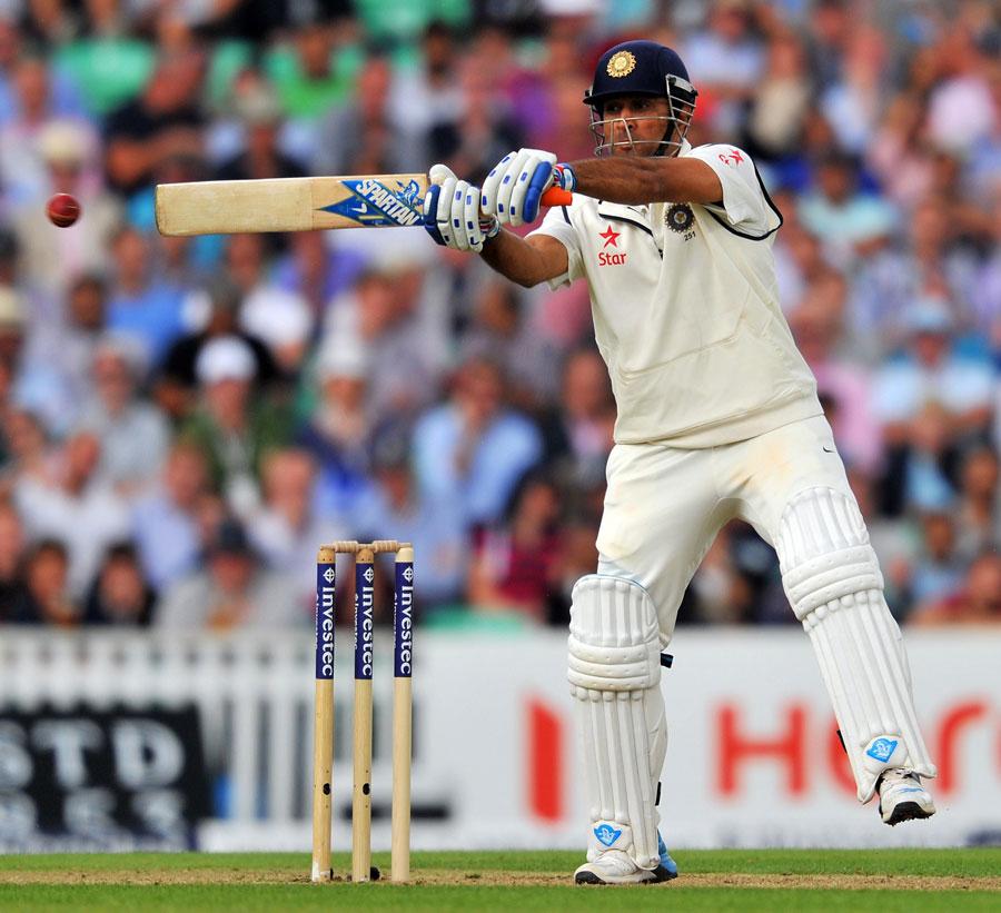 ms dhoni test batting