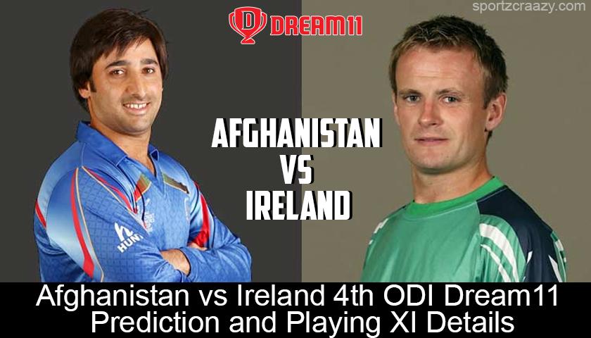 Afghanistan vs. Ireland 4th ODI