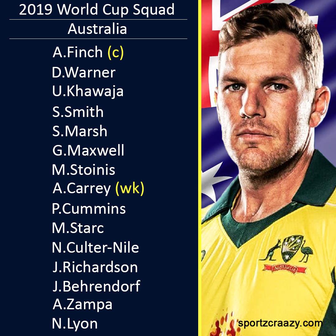 Australia Cricket Team Squad