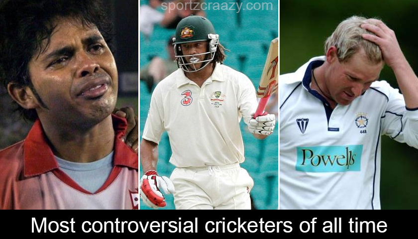 Most controversial cricketers