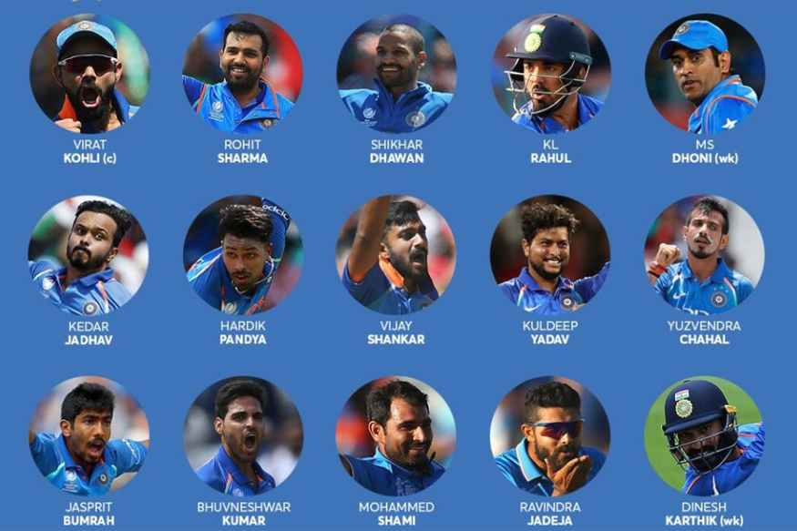 India's World Cup Squad