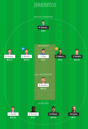 AUS vs ENG Dream11 Prediction