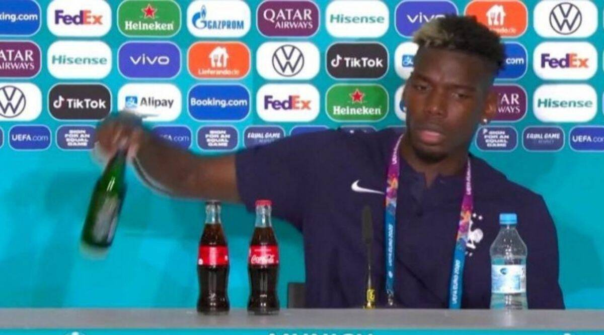 Pogba does a Ronaldo, snubs beer bottle at press conference