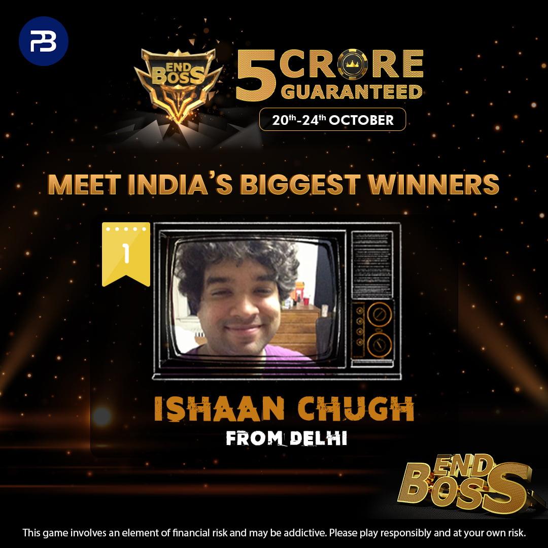 PokerBaazi.com concludes 2021 edition of India's biggest poker tournament EndBoss