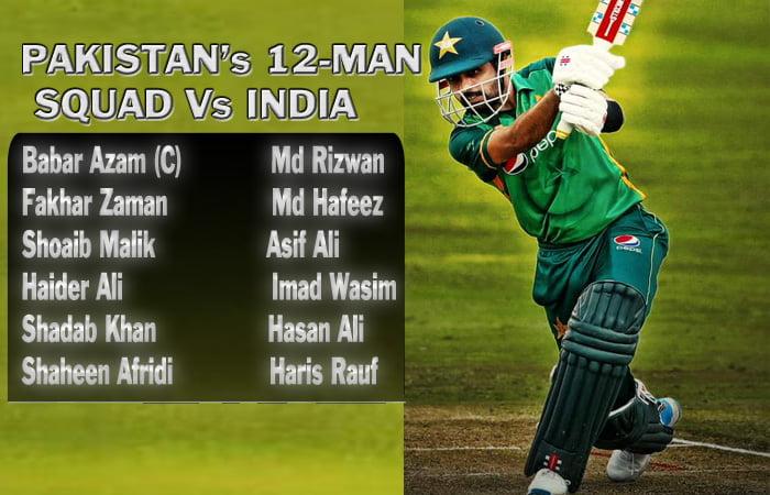 T20 World Cup: Pakistan announces 12-man squad for clash against India