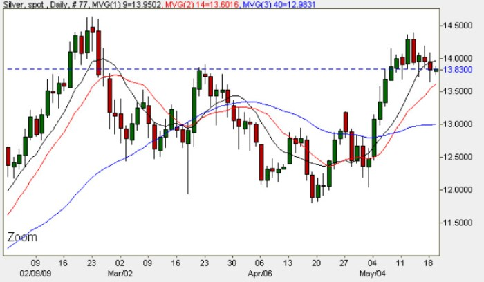 Silver Spot Price Chart - 19th May 2009