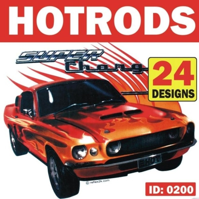 Vintage Hotrod Cars Iron On Decals 24 Designs
