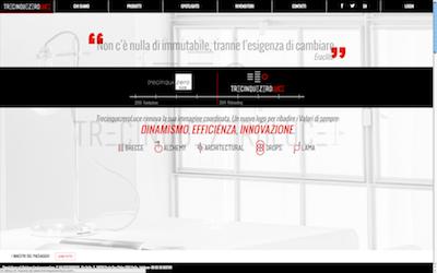 Home page sito trecinquezeroluce.com