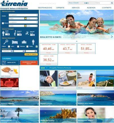 home page Tirrenia.it