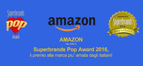 Superbrands POP award 2016 - vince Amazon