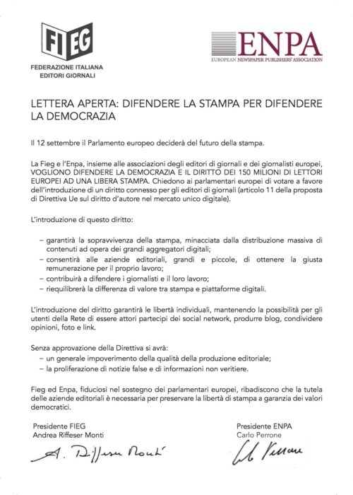 Lettera aperta FIEG ENPA[1]