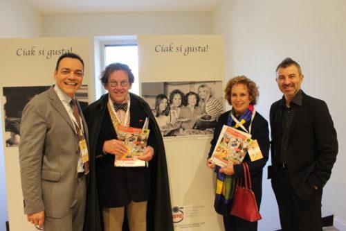 Igor Righetti, il critico d'arte Philippe Daverio, Rosanna Vaudetti e il fotografo Alessandro Canestrelli