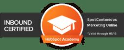 Certificación en Inbound Marketing por Hubspot de SpotContenidos