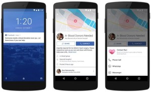 Facebook Blood App