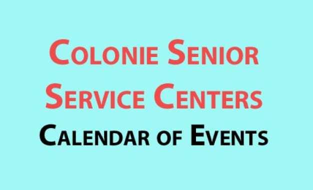 Colonie Senior Service Centers calendar of events for January 2017