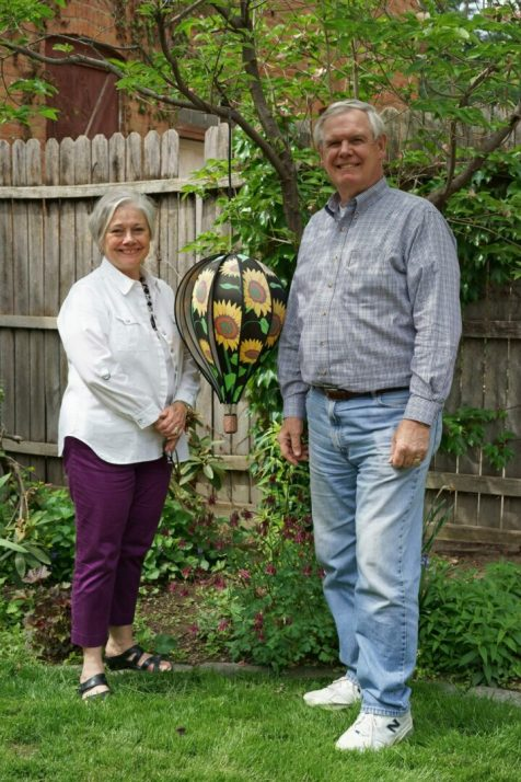 Phyllis and Jim Conroy in their hidden downtown Troy garden. Photo by Mike Brown / Imagination Photography Graphics