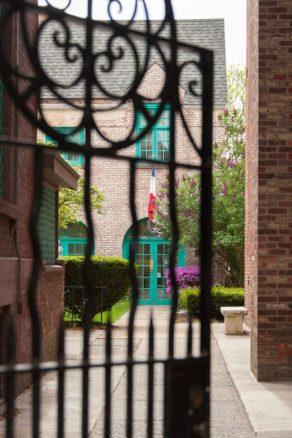 LaFayette Courtyard is a hidden garden on the downtown Troy campus. Photo by Tamara Hansen/TheSageColleges
