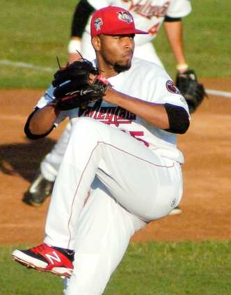 Tri-City starter Hector Perez winds up during the top of the first inning. Rob Jonas/Spotlight