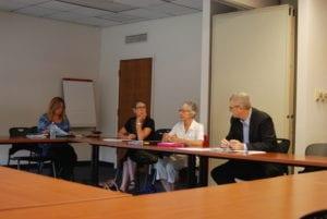 Bethlehem Ethic Board meeting 8/29; (L-R) board members Theresa Schillaci, Lisa Allendorph, Loretta Simon and Chairman Michael Fallon