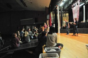 Longtime Bethlehem Central teacher James Yeara has directed plays on this stage for 28 years, and wonders if he'll stave off retirement long enough to see the improvements planned for it.(Photo by Michael Hallisey/Spotlight News)