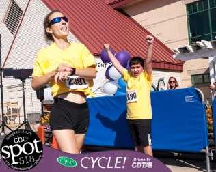 Meg Versteegen wins the Crossings 5K Challenge. (Photo by Jim Franco/Spotlight News)