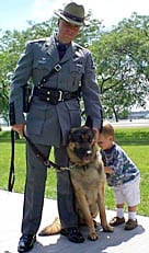 Trooper with Canine