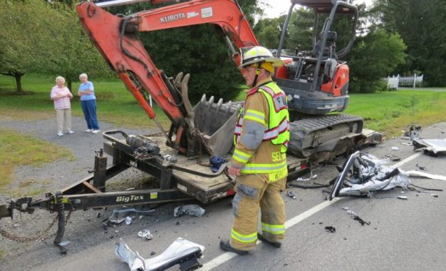 Crash on Route 9W sends one to hospital