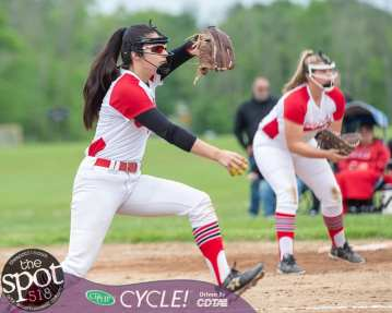 Guilderland relief pitcher Michelle Topaltzaz during the Section II, Class AA quarterfinals against Bethlehem at Bethlehem High School on Wednesday, May 29 2019 (Jim Franco/Special to the Times Union.)