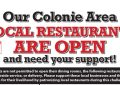 Colonie Spotlight area restaurant list: March 27, 2020 daily edition