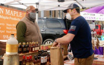 Delmar's Tuesday Farmers Market begins season with social distancing measures (w/photo gallery)