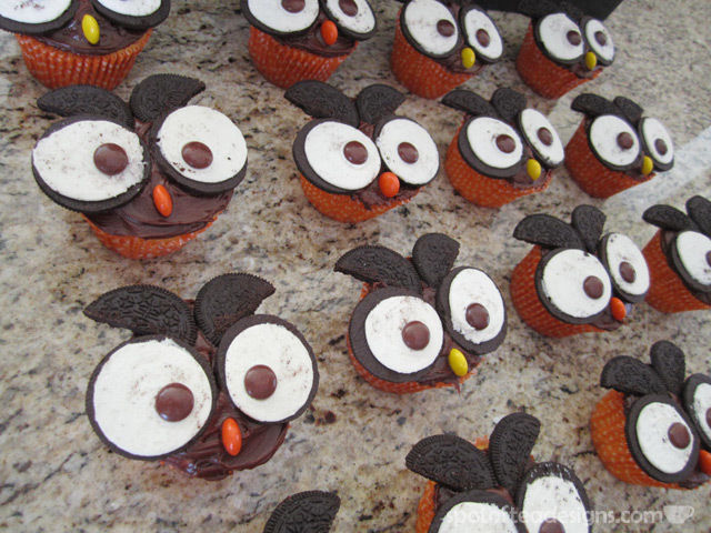 Owl Cupcakes | spotofteadesigns.com