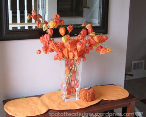 Chinese Lantern Dried Flower Arrangment
