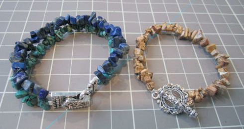 rock bracelets with silver closures