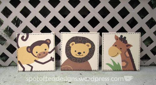 Animal canvas art for a baby nursery | spotofteadesigns.com
