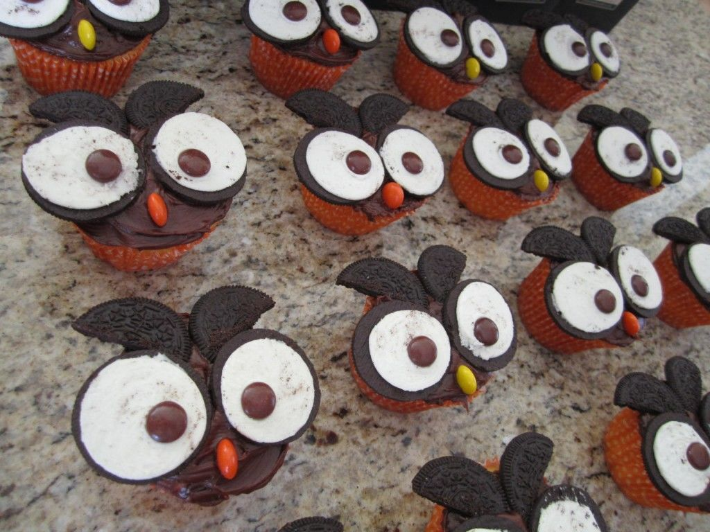 Owl Cucakes made with oreo cookie ideas | spotofteadesigns.com