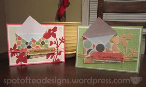 Congrats cards with mini envelope