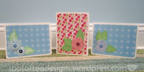 stamped hand made christmas cards