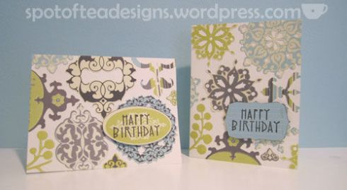handmade cards using K&Company Amy Butler diecuts