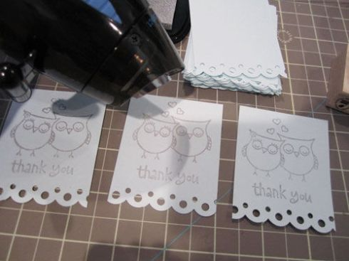 heat embossing on cards