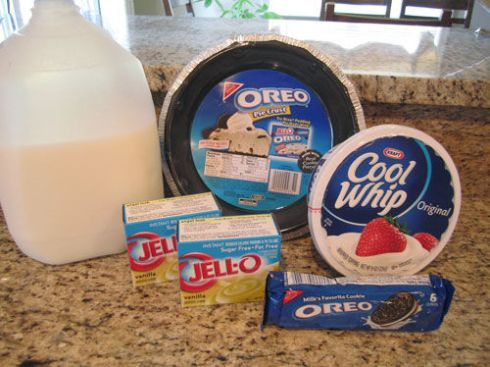 Oreo Pudding Pie Supplies