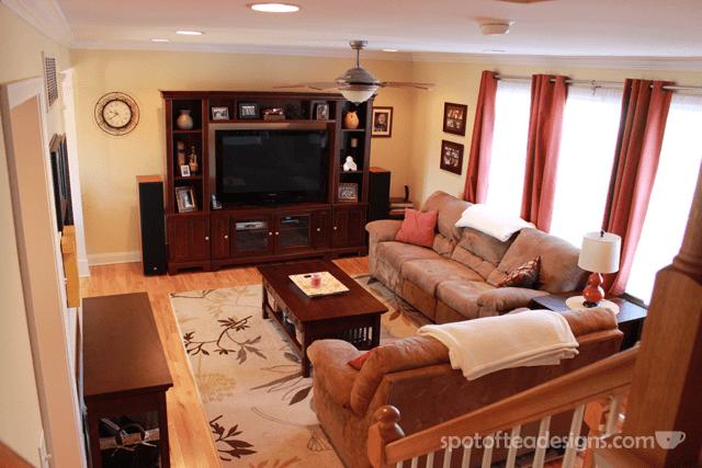Living Room Decorations: Warm color palette | spotofteadesigns.com