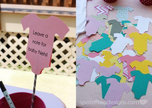 Baby Shower Advice Cards   spotofteadesigns.com