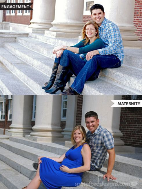 Engagement and Maternity Photo Shoot at same location | spotofteadesigns.com