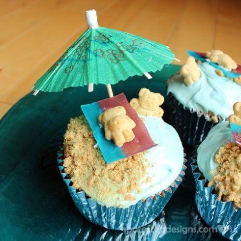 Sand and Sea Cupcakes | spotofteadesigns.com