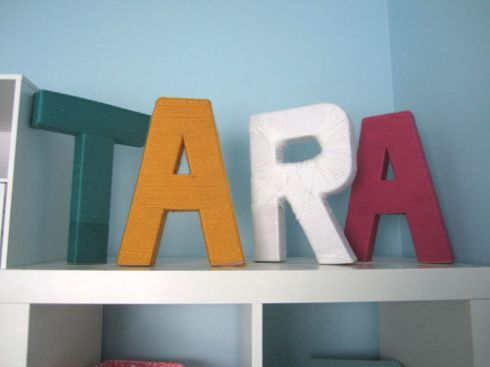Tara yarn wrapped letters