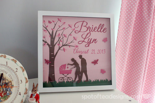 Personalized Frame for Baby Nursery | spotofteadesigns.com